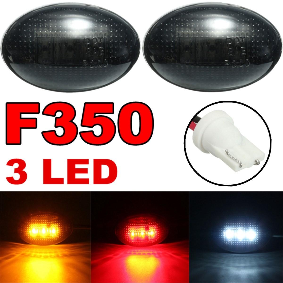 1Pcs Smoke Side Rear For Fender Marker LED Light Lamp Bar For Ford F150 F250 F350 F450