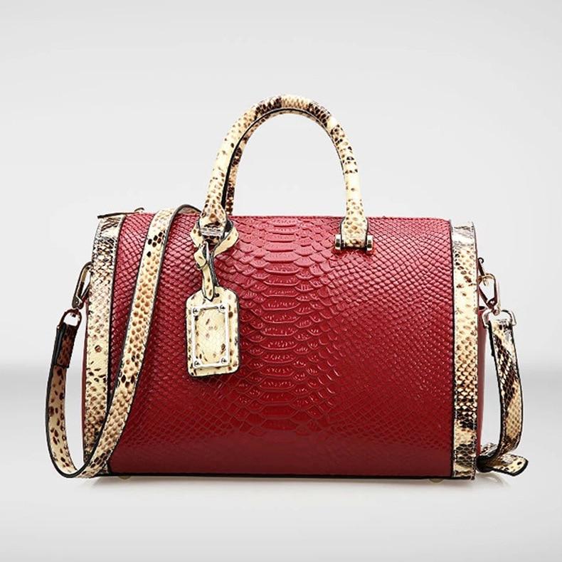 MUPO Brand Women Luxury Genuine Cow Leather Crocodile Lines Pillow Bag Fashion Lady Shoulder Bag Handbags 2017 New mp-t15080503