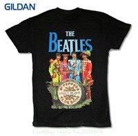 100% Cotton Short Sleeve O-neck Womens The Sgt Pepper Black T Shirt John Paul George Ringo 1967 Album