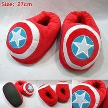 Anime zapatillas capitán américa felpa zapatillas zapatos de Cosplay 27 cm de color rojo