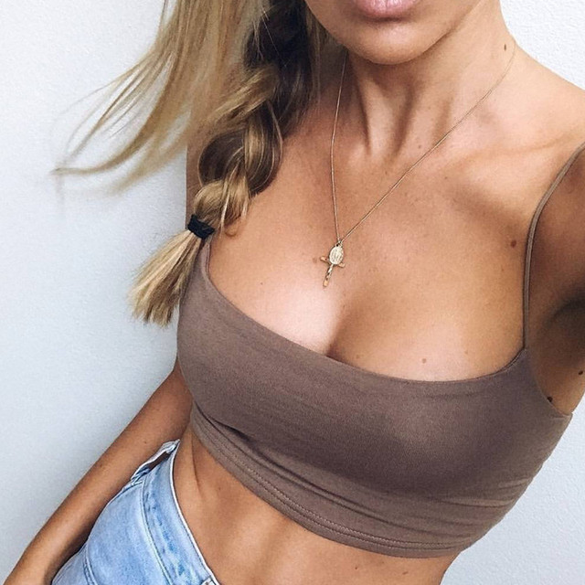 Summer Workout Crop Tank Top