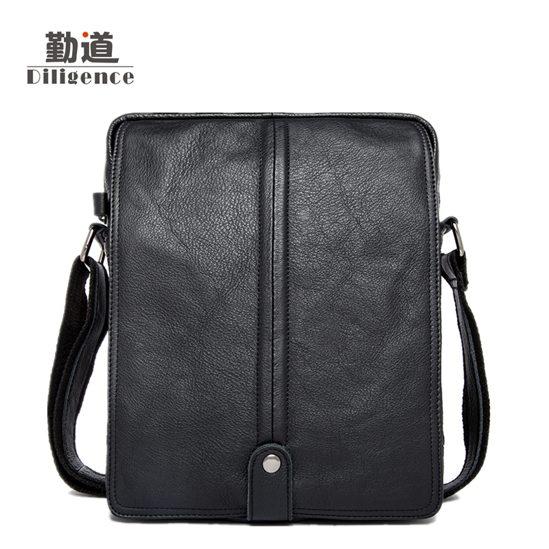 Men's Genuine Leather Handbags Vintage Fashion Bolsa Feminina  Casual 2017 New Style Messenger Bag Clutch Shoulder Bags Office women shoulder bags leather handbags shell crossbody bag brand design small single messenger bolsa tote sweet fashion style