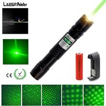 Лазерная указка Мощная зеленая Охота Лазеры прицел 532nm lzser неба звезды для 18650 Аккумуляторы