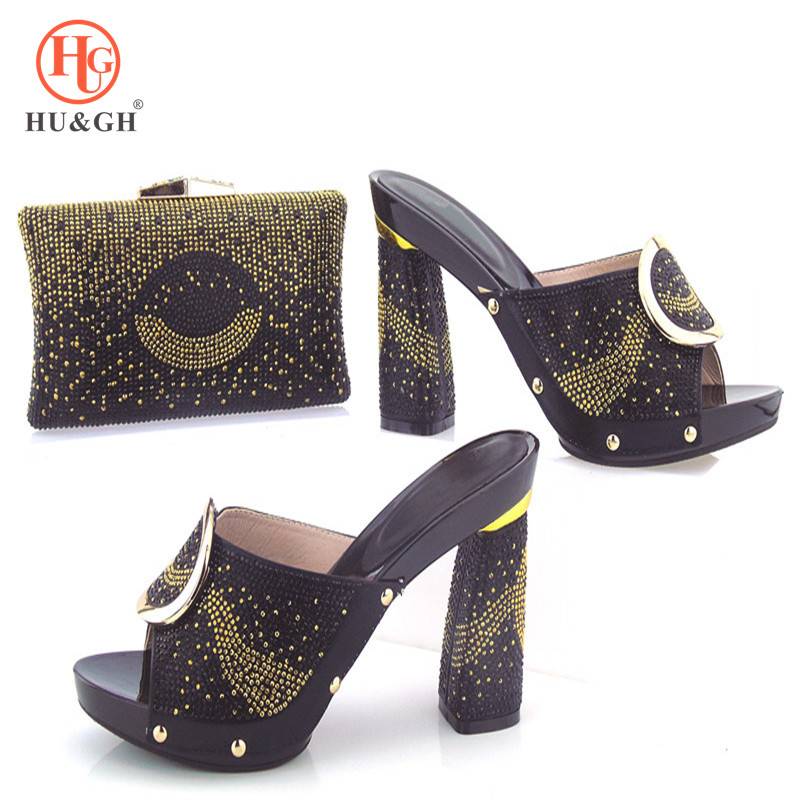 Italian Black Shoe and Bag Set Shoes with Matching Bag African Nigerian Shoe and Matching Bag Women Shoe and Bag Set In Italy cd158 1 free shipping hot sale fashion design shoes and matching bag with glitter item in black