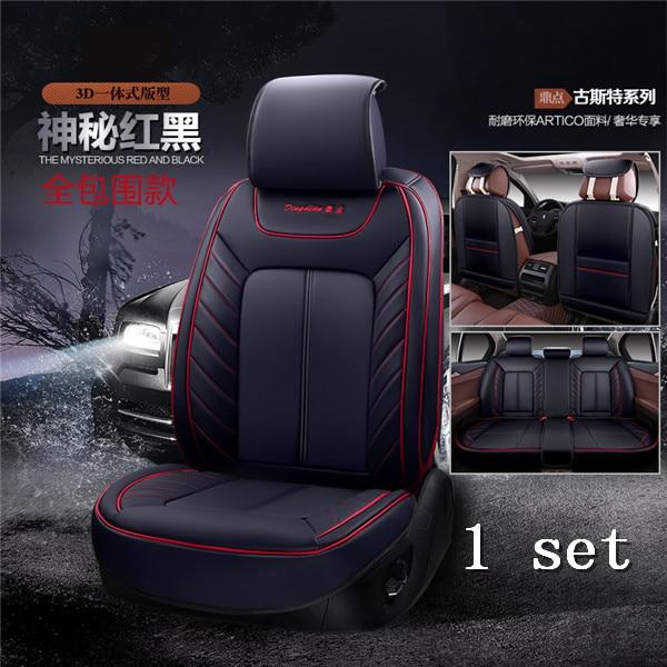 3D Styling Car Seat Cover For Audi A1 A3 A4 B8 B7 B6 B5 A6 C6 C7 A8 A8L Q3 Q5 Q7 High fiber Leather,