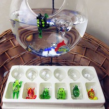 Manufacturer production! Hand melting Mini Color float glass fish aquarium frog small sculpture decorative ocean Charm