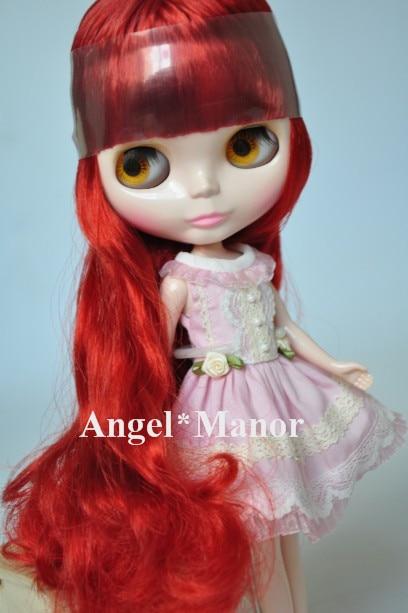 Free shipping Nude Blyth Doll, ring  red hair, big eye doll,For Girl's Gift,PJ0013 free shipping nude blyth doll black5 hair big eye doll for girl s gift pjb005