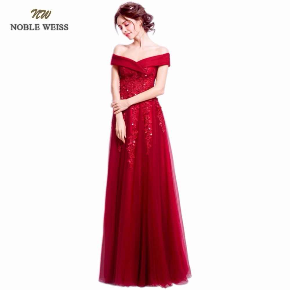 26874281589fc ... Благородный WEISS темно-красные вечерние платья Длинные v-образный  вырез аппликации из бисера Длина ...