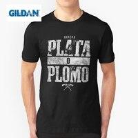 Возьмите футболки EL покровитель плата о Пломо Эскобар нарков молодежи хлопок короткий рукав Футболка с мужской индивидуальный заказ футбо...