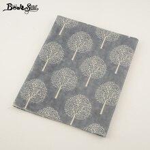 Booksew Textile Dark Grey Cotton Linen Fabric Sewing Dandelion Style Material Tissu Tablecloth Pillow Bag Curtain Cushion Zakka