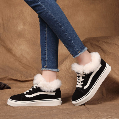 Rabbit Hair Shoes In The Autumn And Winter Of 2017 Hot Style Real Leather And Plush Warm Women Shoes