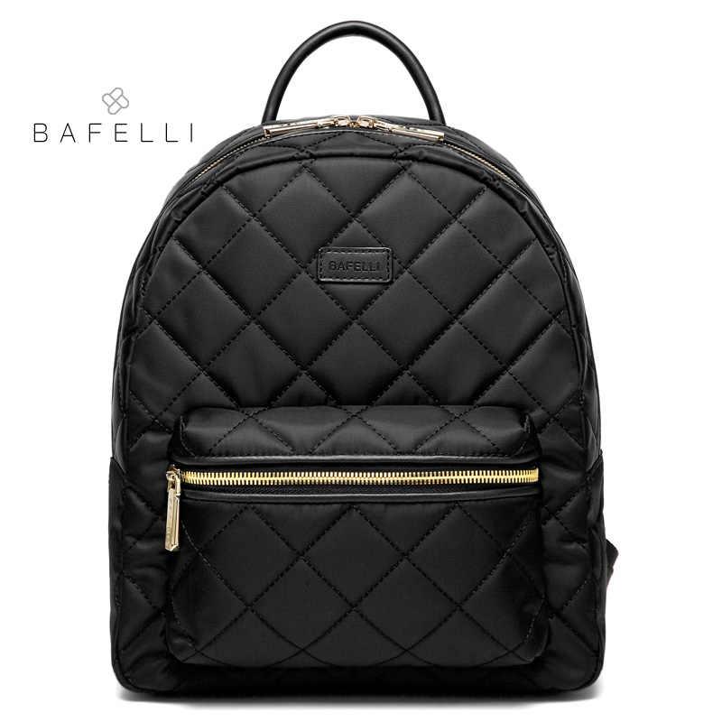 BAFELLI parachute nylon material diamond lattice backpacks high quality for  teenage girls waterproof backpacks women travel cb2b9d596730