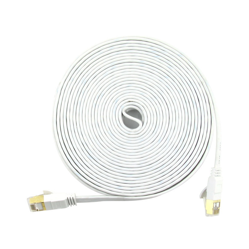 Cat7 Ethernet Cable RJ 45 Flat Environmental PVC 1/2/3/5/10M Material Durable Network Lan Cable Connector For PC Router Laptop