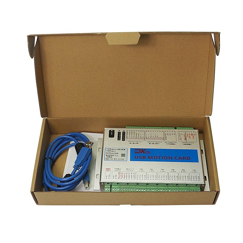 6 assi Mach3 scheda di controllo del Movimento USB Senza Fili a mano ruota per il fai da te Router di CNC di Fresatura Macchina - 6