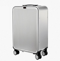 CARRYLOVE 20 24 inch aluminium suitcase TAS LOCK 100% spinner business trolley luggage bag on wheel