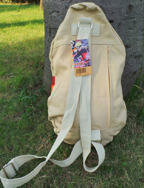 Anime Naruto Gaara Cosplay Gourd Backpack Canvas Sling Shoulder Bag Soft Satchel Small Kids Student Chest Bags Purse Collection 3