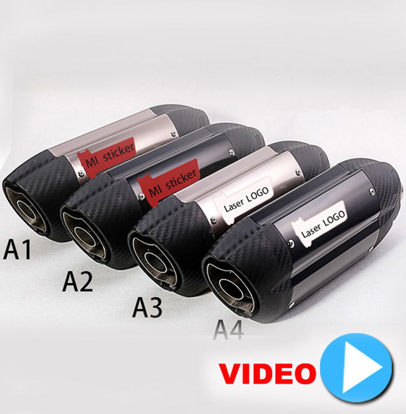 51MM Motorcycle Mivv Exhaust Muffler Pipe With Moveable DB Killer Z800 Devil Monster 796 Modified Exhaust