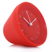 Fashion Jelly Shaped Gravity Sensor Alarm Clock Creative Round Digital Touch Alarm Clock with Snooze Function Christmas Gifts
