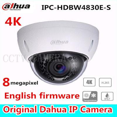 Câmera dome IP Dahua 4 K IPC-HDBW4800E atualizado para IPC-HDBW4830E-S in-door cam ip poe rede full hd ir câmera dome