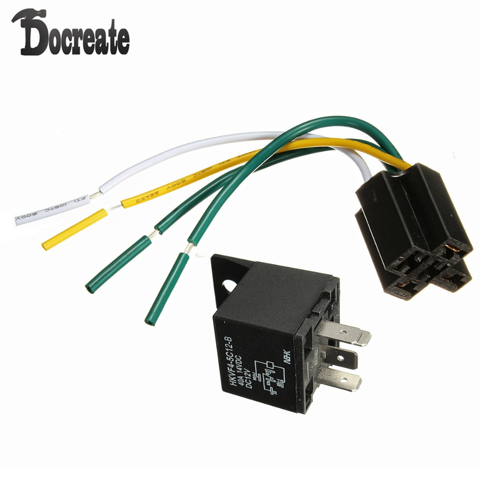 12v 12 Volt 30  40a Automotive Relay With Socket 30 Amp