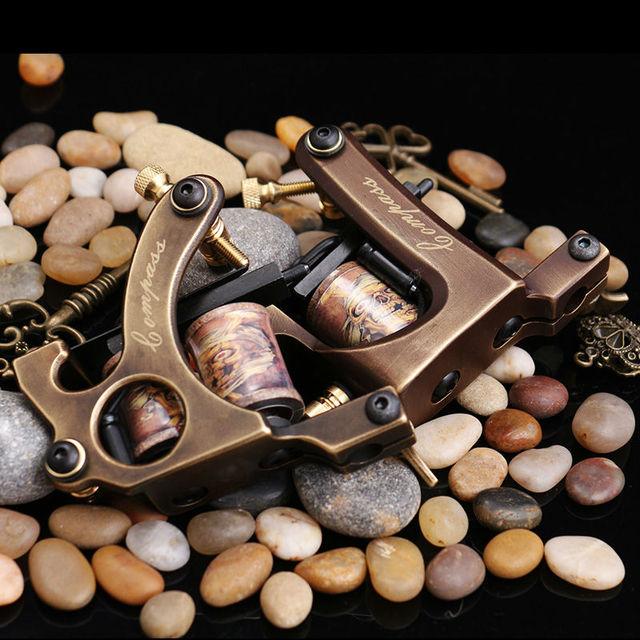 Бесплатная доставка 2 шт. чистый Медь Инструменты для татуажа 10 обертывания лайнера и шейдеров Одежда высшего качества татуировки набор
