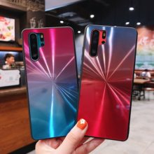 For Huawei P20 P30 Pro Mate 20 Lite Honor 8X 10 Lite Y6 Y9 2019 Case Rainbow Aurora Gradient 3D Bling Diamond Mirror Back Cover(China)
