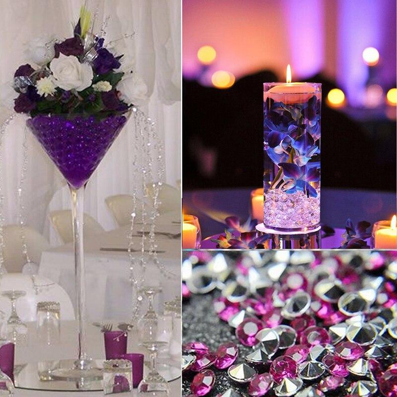 """מיני 1000 יחידות 4.5 מ""""מ מלאכות יהלומי קונפטי שולחן מפזר ברור גבישי חתונה מרכזי אירועים מסיבת אספקת פסטיבל"""