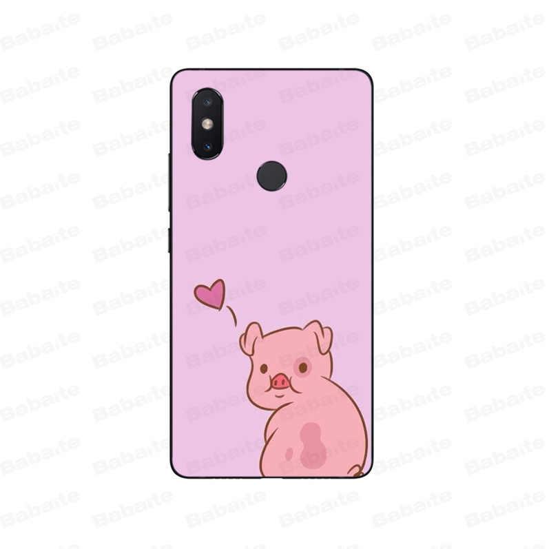 Babaite de Anime de dibujos animados de Gravity Falls cerdo novedad Fundas de la cubierta de la caja del teléfono para Xiaomi mi 8 8 iPhone 6 nota 3 mi X 2 2 S Note 3 cubierta