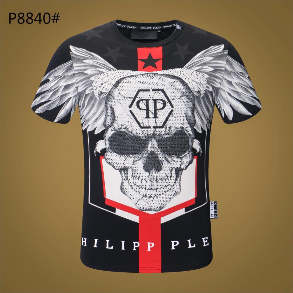 2019 Man's T Shirt Summer Skulls Brand Clothes o neck Short sleeve Tops tee Men School Tshirt Casual Male T shirts New Clothing