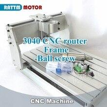 Kit de Marco mecánico con tornillo de bola con motor de husillo, 3040 máquina de fresado CNC