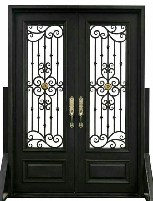Custom 38 X96wrought Iron Doors Front Doors Iron Entry Doors Hench