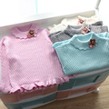 2017 New Spring Children Sweaters Render Unlined Upper Garment Is Small and Pure and Fresh Lapel Knit Children's Clothes