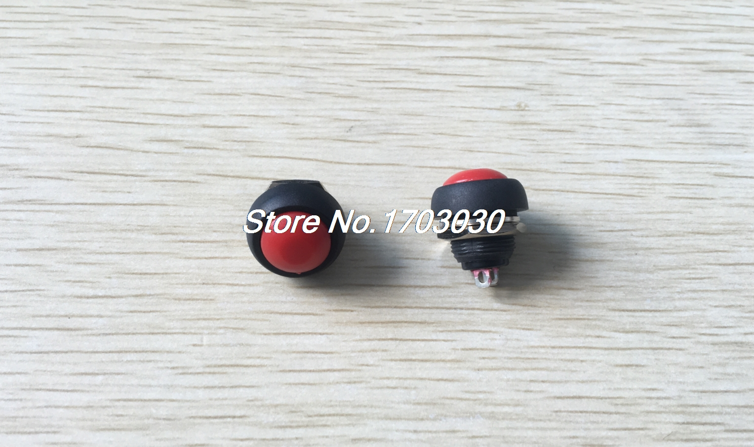 2pcs panel mount spst off  on 12mm momentary red round