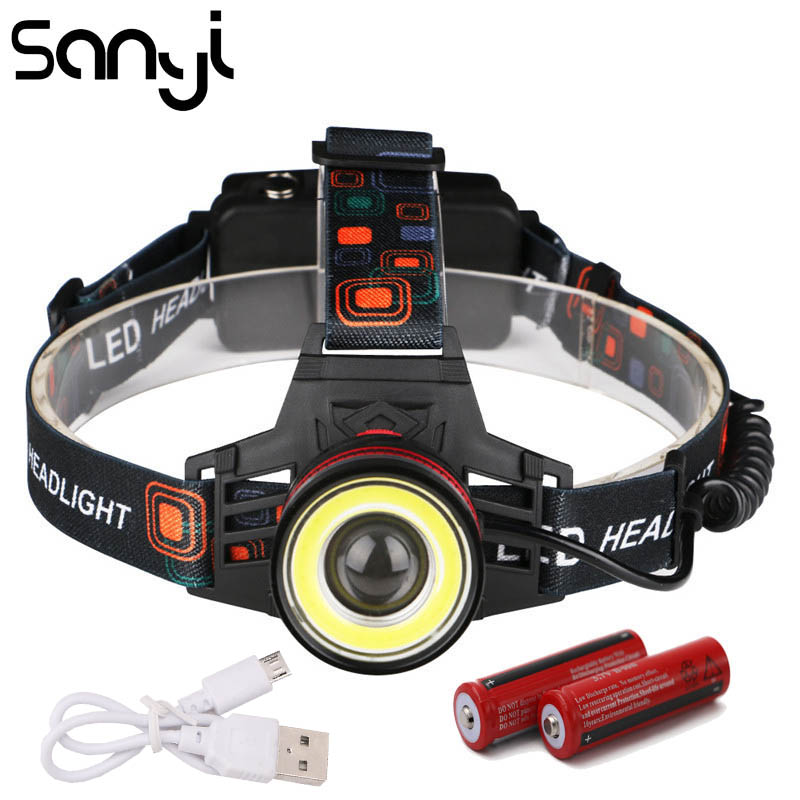 Red Laser 18650 Zoomable Headlamp Headlight Torch Aluminum FZ 1x  Q5 LED