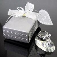 Кристалл орнамент украшения 3D Кристалл детская обувь Bootie фигурки рождения/свадебной сувенир орнамент 10 шт./упак.