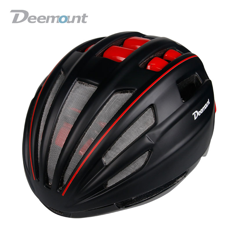 Deemount Hot New Hmt-014 Evade Aero Cycling Helmet Bicycle Mtb Mountain Road Biking Safety Cap In-mold Built W/ Goggle Lens Cycling