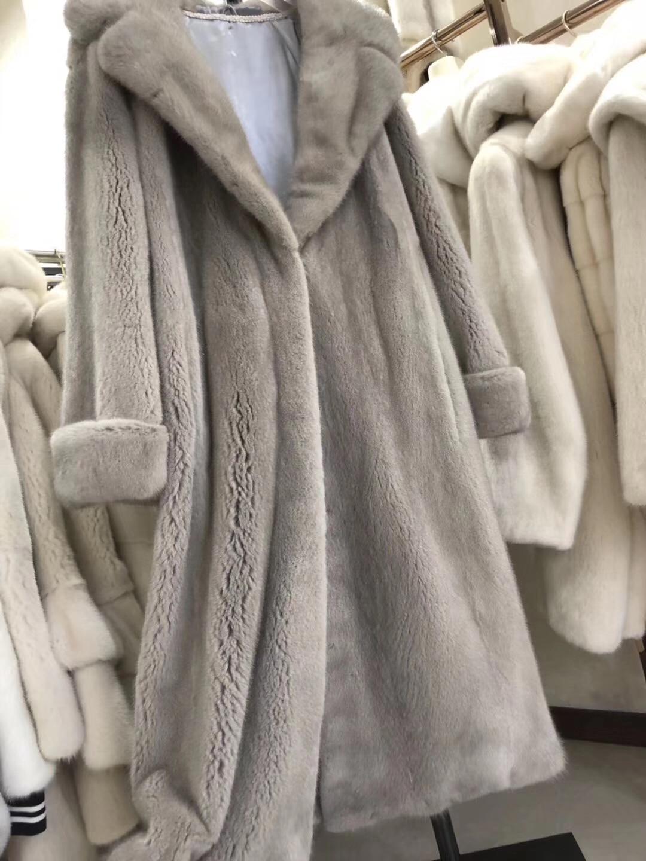 Fourrure Long Femmes Picture Réel Vison Hiver Manteau Color Nouvelles De Outwear Naturel 2018 nEwzYPqP