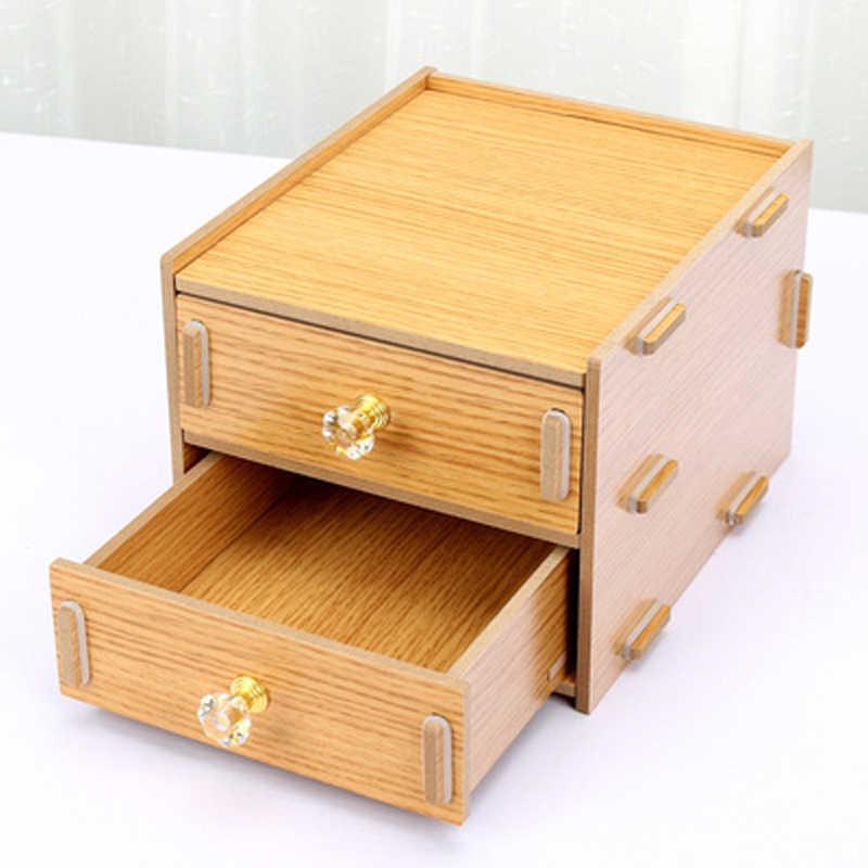 Деревянные держатели канцелярские с ящиком коробка для хранения канцтоваров офисные и школьные принадлежности Многофункциональный стол органайзер уголок радости