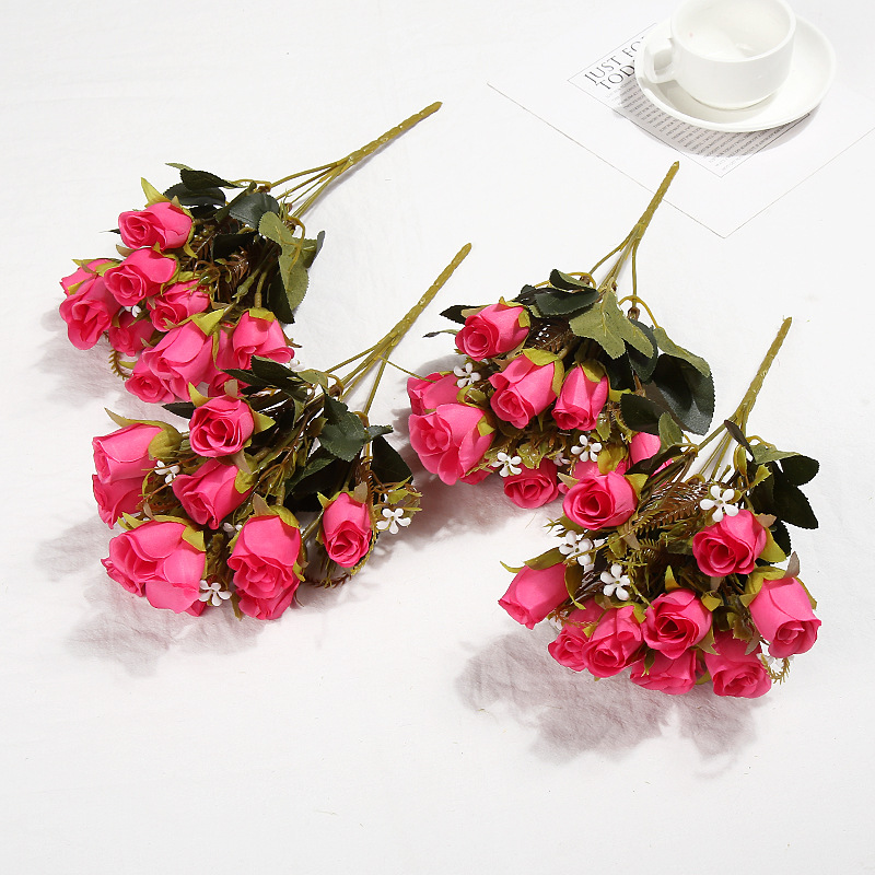 Klonca Romantic High grade Silk 32CM 5CM 2PCs lot Artificial Flowers Rose Fake Flowers Wedding Home Decoration in Artificial Dried Flowers from Home Garden