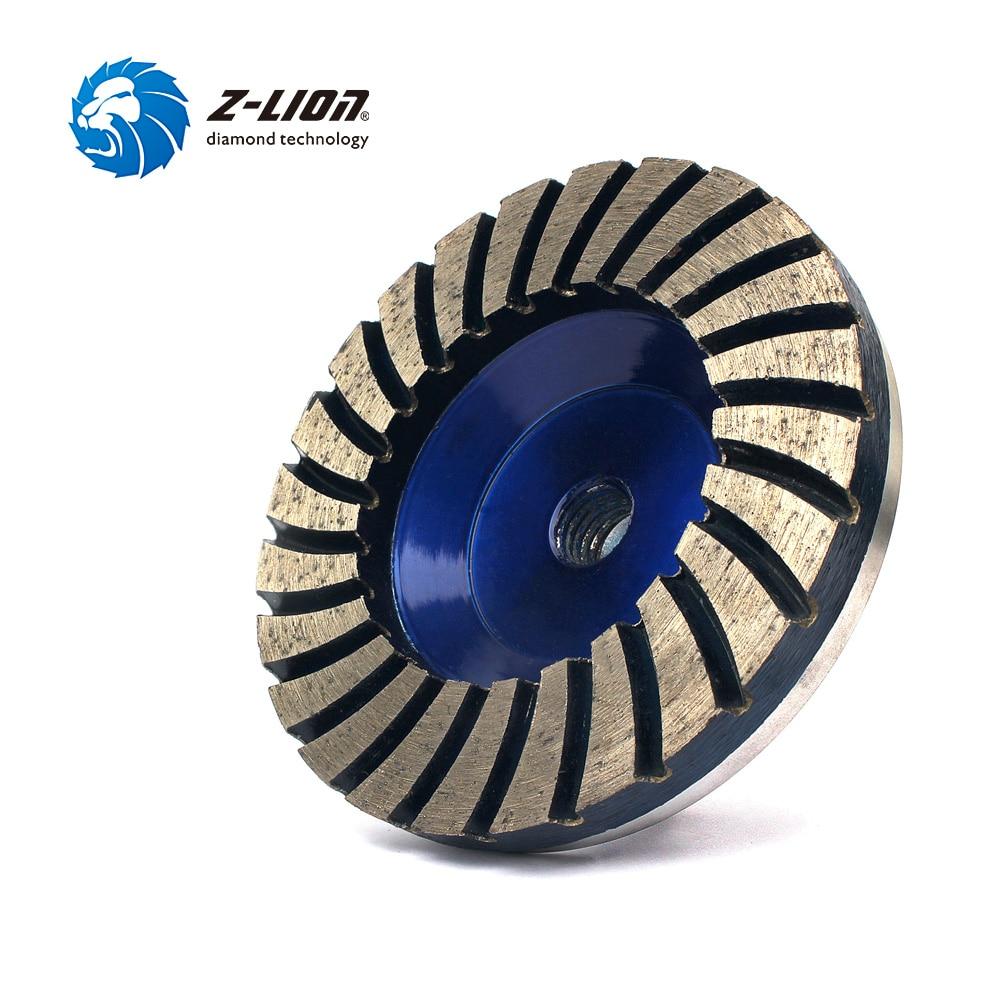 Z LION 4 50 Diamond Turbo Grinding Cup Wheel 50 Coarse Grit For Concrete Granite Floor
