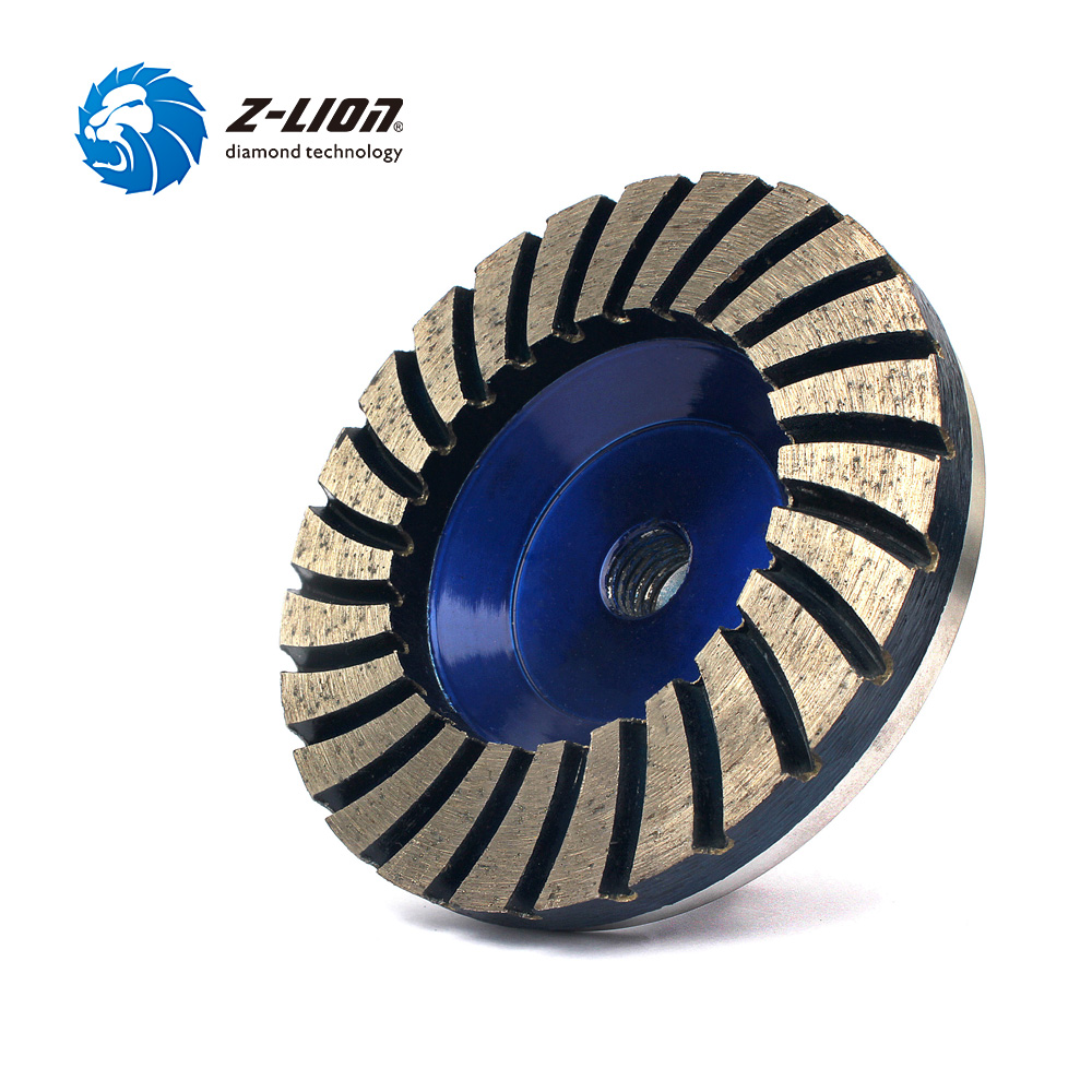Z-LION 4 #50 Diamond Turbo Grinding Cup Wheel 50# Coarse Grit For Concrete Granite Floor Aluminum Based Diamond Grinding Wheel