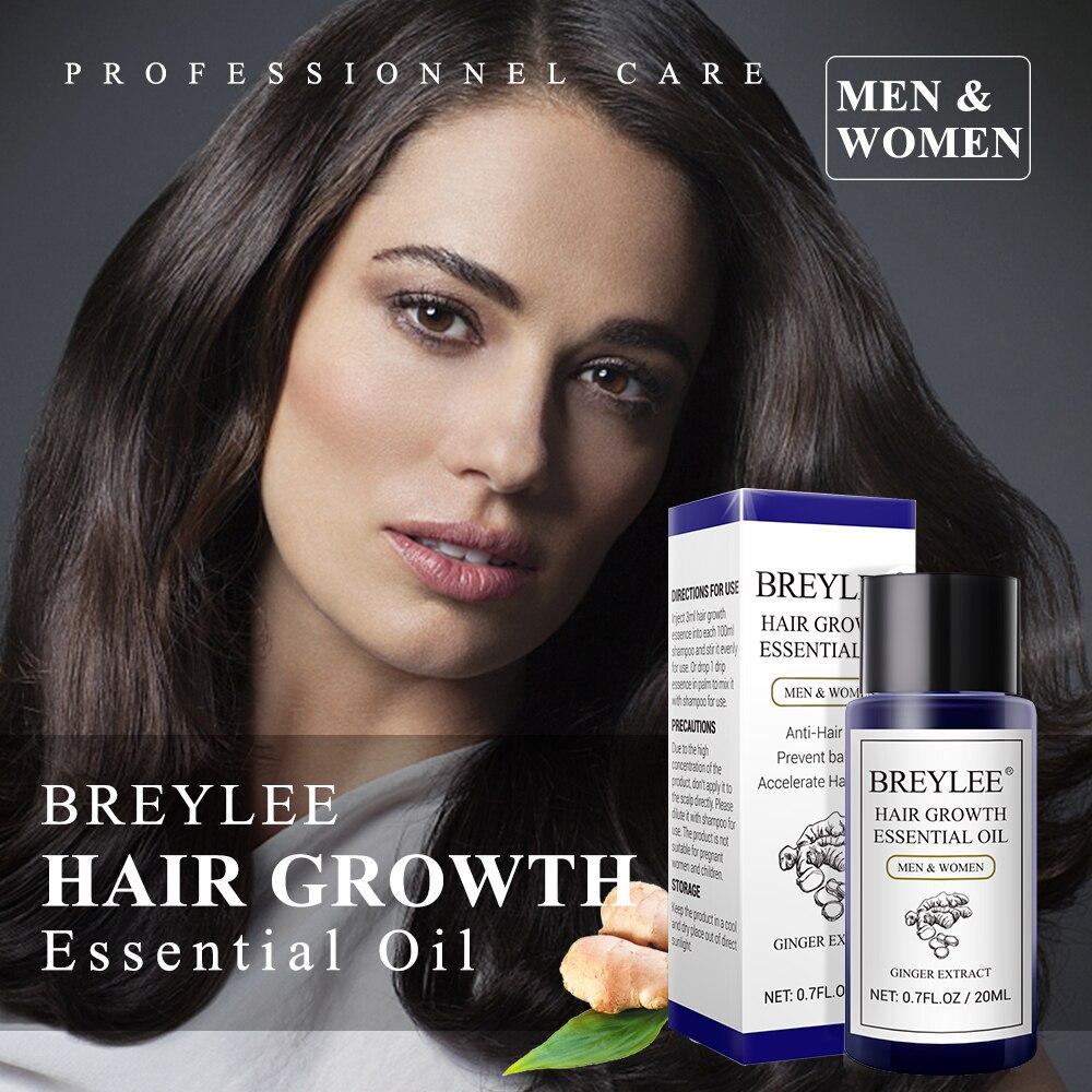 BREYLEE Hair Growth Essential Oil 20ml Fast Powerful Hair Products Hair Care Prevent Baldness Anti-Hair Loss Serum Nourishing Lahore