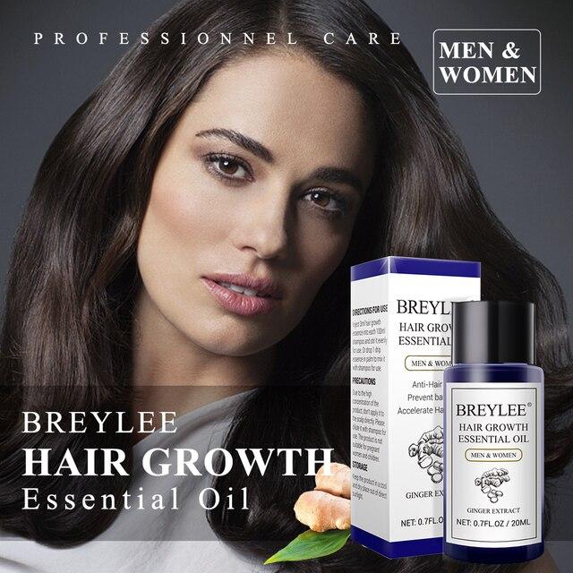 BREYLEE Hair Growth Essential Oil 20ml Fast Powerful Hair Products Hair Care Prevent Baldness Anti Hair