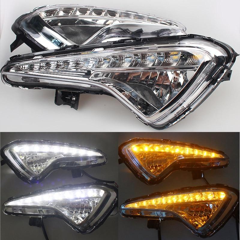 MZORANGE 1 Set 12V LED Daytime Running Light For Hyundai Verna 2013 2014 High Brightness DRL