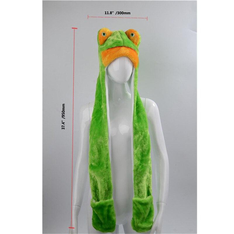 Couvre-chef Animal Mignon 21 Pouces Animal Cosplay Accessoire Pour Mascarade 3D Dr/ôle Grenouille Coiffe En Peluche Grenouille Lapin Chapeau F/ête Chapeaux Dessin Anim/é Photoprops Halloween Costume