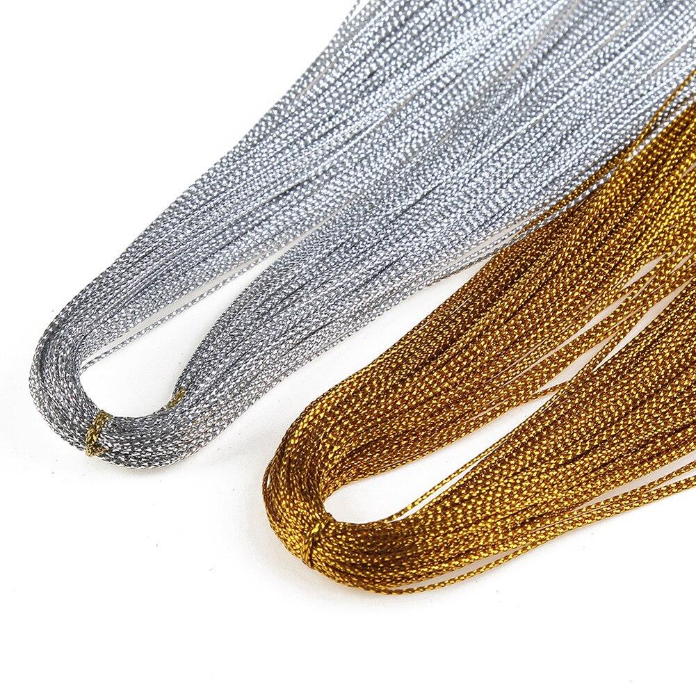 100 м/лот Диаметр 0,5 мм цвета: золотистый, серебристый Цвет прочный и износостойкий Создание Diy Цепочки и ожерелья атласной нитью нейлоновый шнур идеально подходит для ювелирных изделий