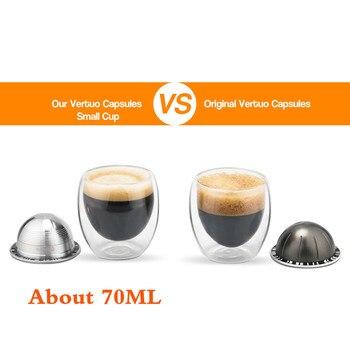 إعادة الملء اسبرسو القهوة كبسولة جراب مرشحات ل نسبرسو Vertuo Vertuoline GCA1 و Delonghi ENV135 الفولاذ المقاوم للصدأ العبث