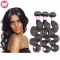 Brazilian Virgin Hair Body Wave 3 bundles unprocessed 7A Brazillian Body Wave Human Virgin Hair Weaves Extension PRIDA STAR Hair