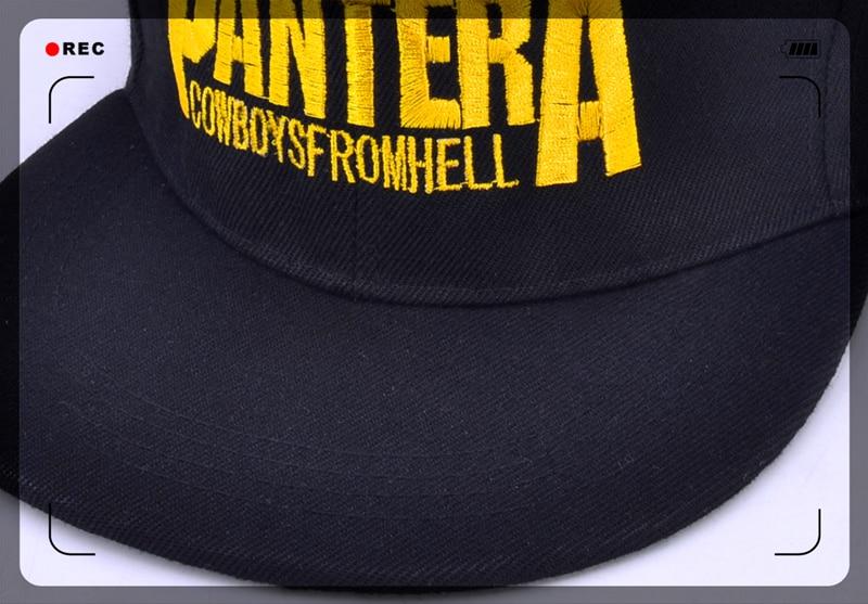 Pantera Heavy Metal Band Letter Baseball Caps Cowboys From Hell Rock ... 8372415b847