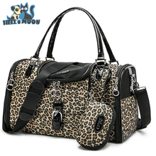 HELLOMOON Leopard Pet Dog Small Dog Travel Carrier Bag Chihuahua Portable Package